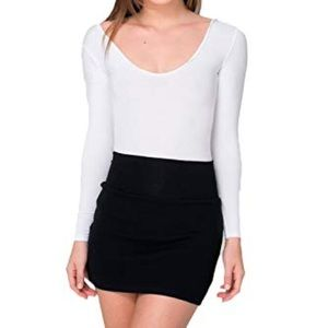 American apparel mini black skirt s